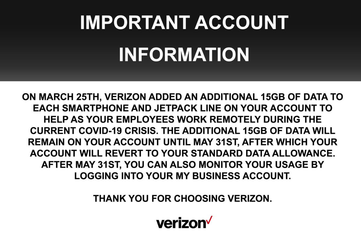 Important Changes for Verizon Users